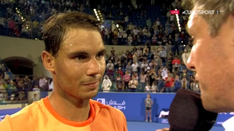 Nadal says 'it's great to be back' after reaching Abu Dhabi final