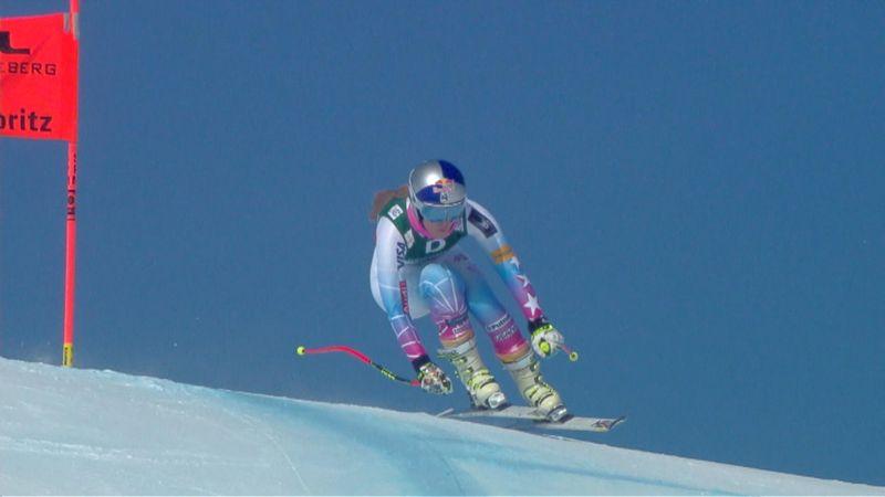 Lindsey Vonn'un St Moritz'deki antrenman parkuru