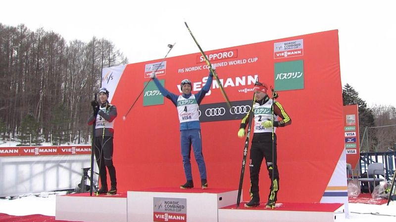 Akito Watabe ends Germany's strangle hold on top spot in the Nordic Combined