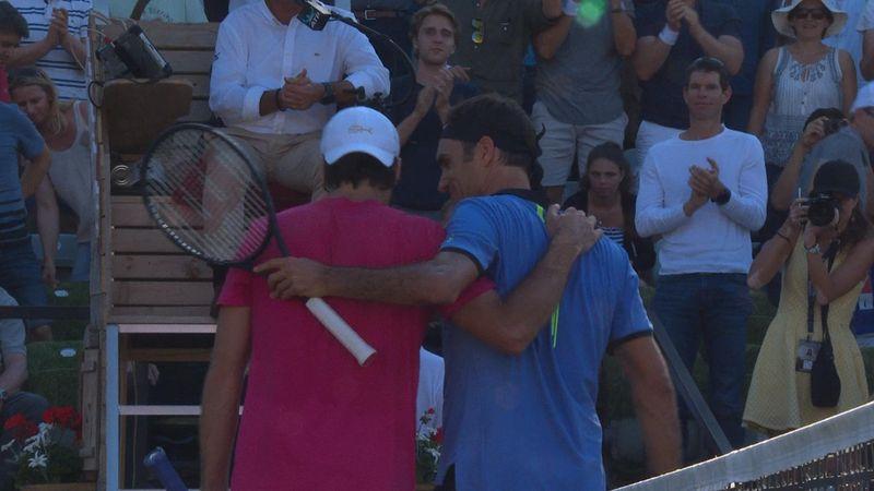 Høydepunkter: Haas sjokkerer Federer