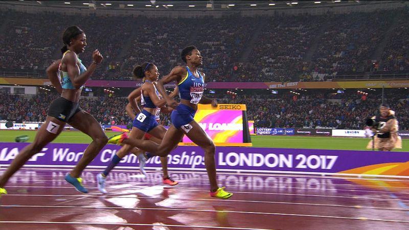 Mundial Atletismo 2017 - El drama de Miller-Uibo: Pierde el oro por una lesión a falta de 30 metros