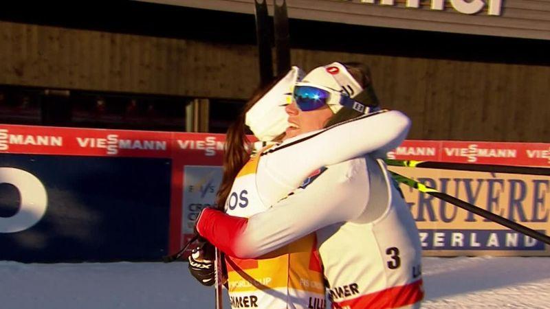 Esquí de fondo: Charlotte Kalla se impone en solitario en Lillehammer y afianza su liderato