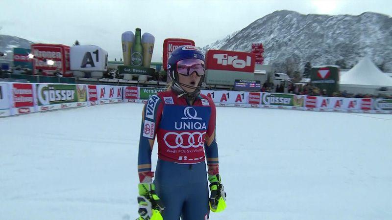 Shiffrin smashes first slalom run in Lienz
