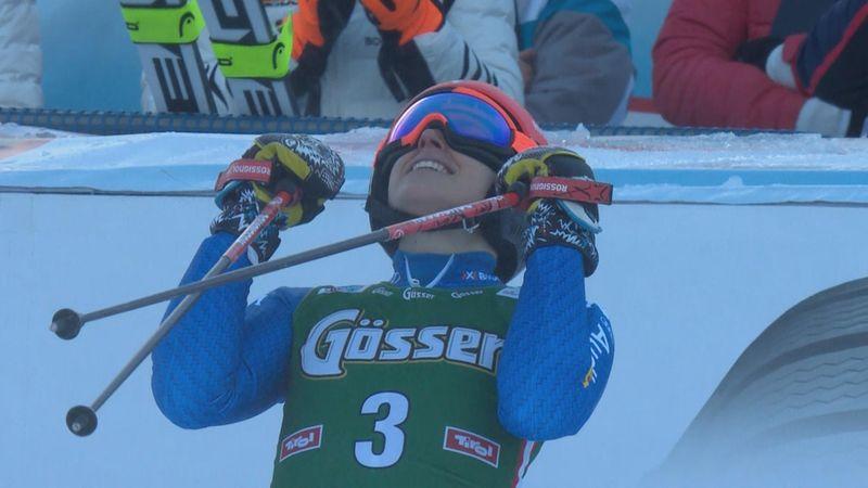 Brignone edges Shiffrin and Rebensburg for GS win