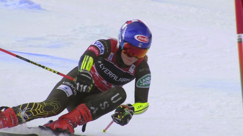 Alpineskiën   Shiffrin heeft het lastig op de reuzenslalom