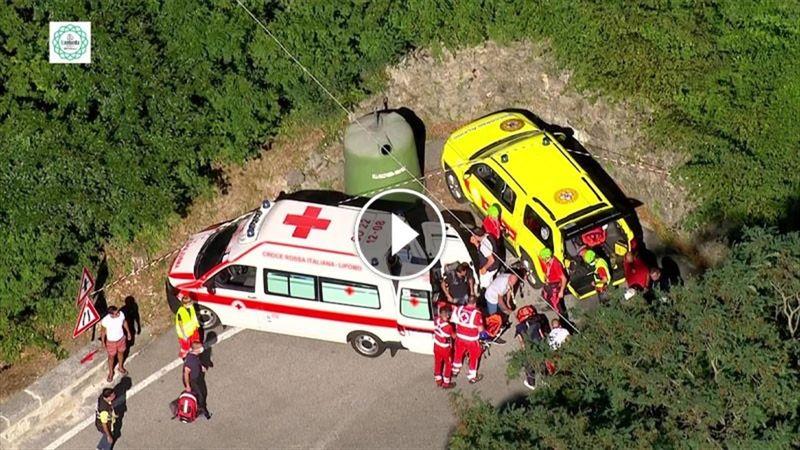 Жуткое падение бельгийского велогонщика во время гонки в Ломбардии