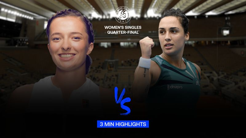 Highlights | Iga Swiatek - Martina Trevisan
