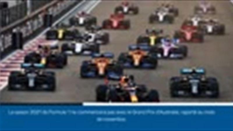 Formule 1 - Le calendrier de la saison 2021 modifié