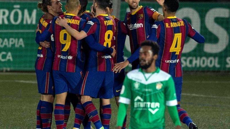 Resumen Cornellá-Barcelona: Jugando con fuego, pero en octavos