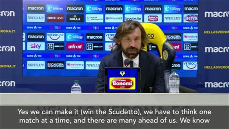 'We can still win the Scudetto' – Pirlo after Juve drop more points