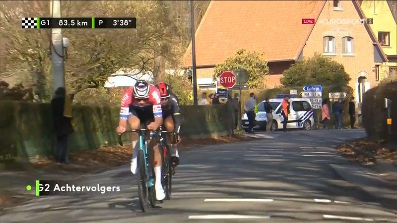 ¡Sin piedad! Van der Poel atacó a 80 km de meta