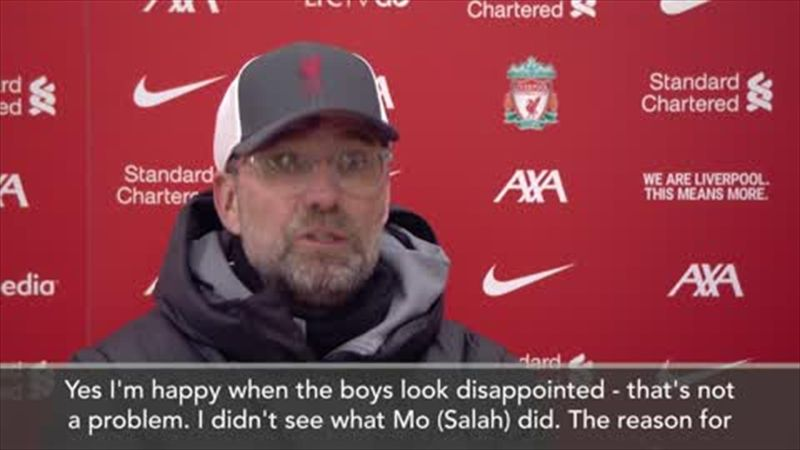 'I didn't see what Mo did' - Klopp on Salah reaction