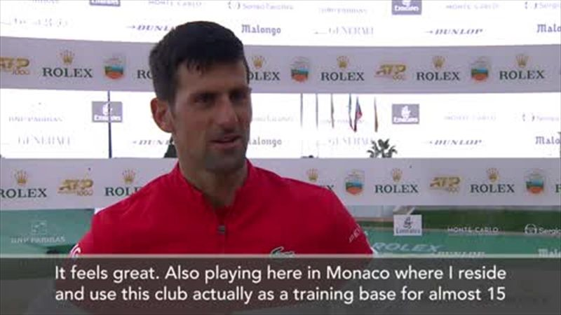 'It feels like playing at home' - Djokovic on playing in Monte Carlo