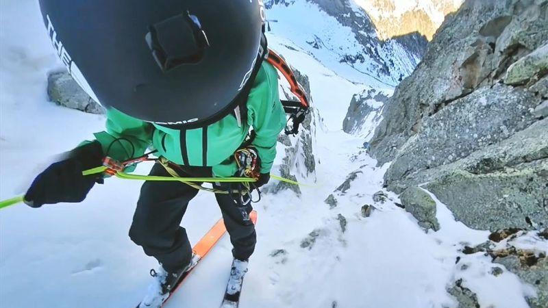 El impresionante descenso de Aymar Navarro: ¡500 metros de desnivel!