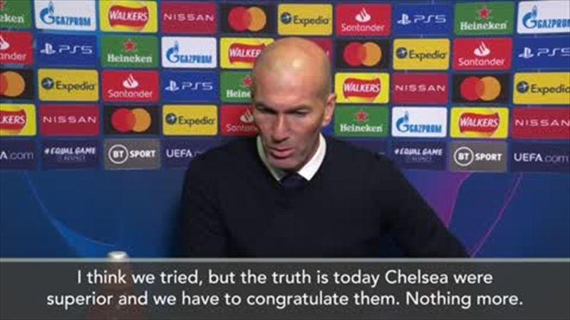 Zidane - 'Chelsea were better'