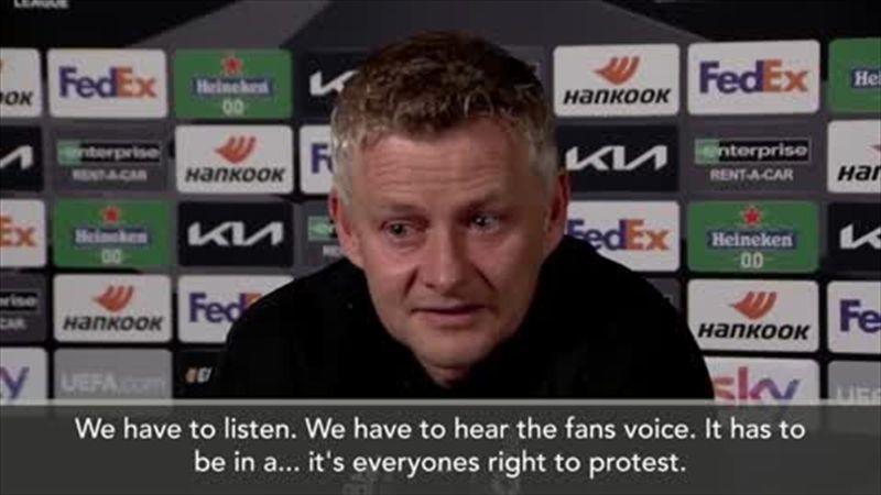 'Protest has to be civilised' Solskjaer