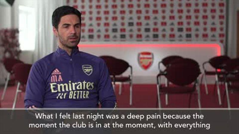 Arteta admits a 'deep pain' after Arsenal's Europa League semi-final defeat