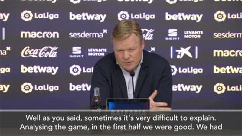 'No explanation' - Koeman on Barca letting 2-0 lead slip