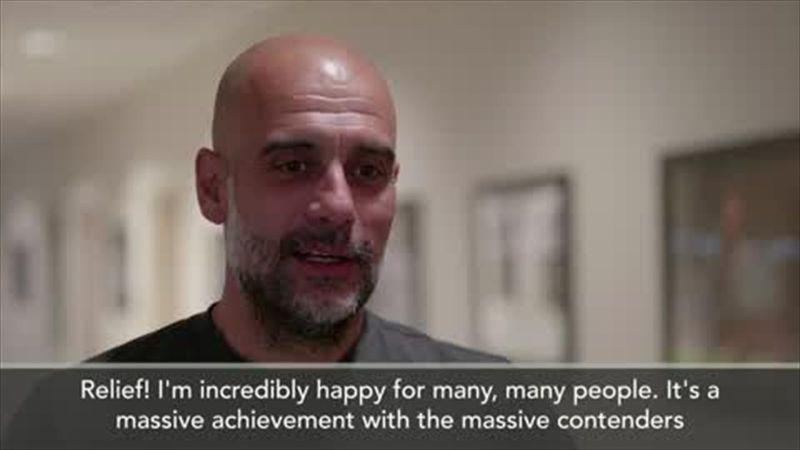 'A massive achievement' - Guardiola reflects on Man City's title win