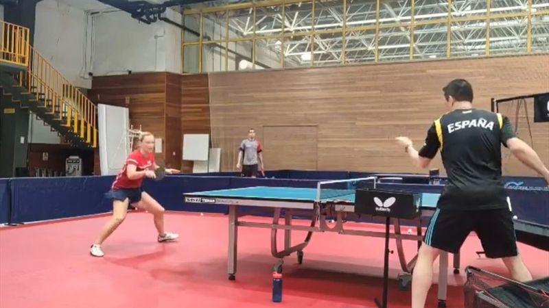 Tenis de mesa | ¡Qué velocidad! El súper entreno de Galia Dvorak