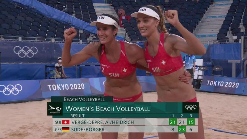 Tokyo 2020 - Switzerland ile Germany - Plaj Voleybolu – Olimpiyatların Önemli Anları