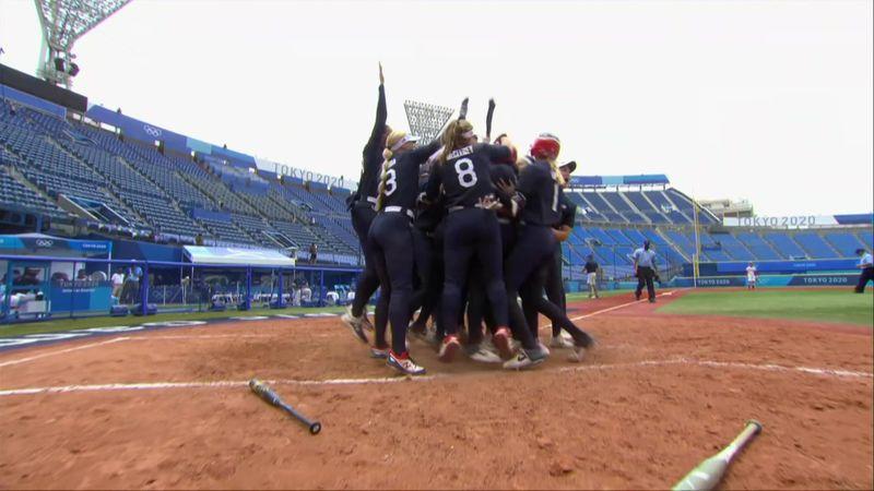 Watch thrilling finish as USA beat Japan to reach softball final
