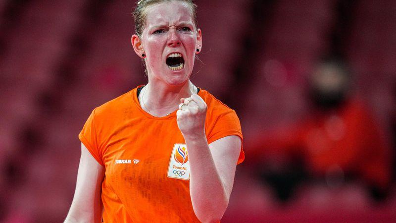 Tokyo 2020 | Britt Eerland wint na waanzinnige comeback eerste partij in tafeltennistoernooi