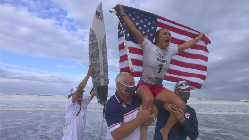 Tokyo 2020 - United States vs South Africa - Surfing - Olympic Highlights