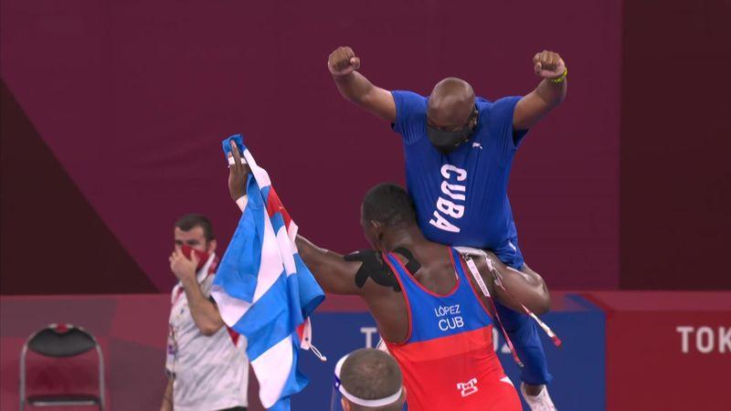 Lucha | ¡Histórico! Miajín López consigue su cuarto oro olímpico consecutivo