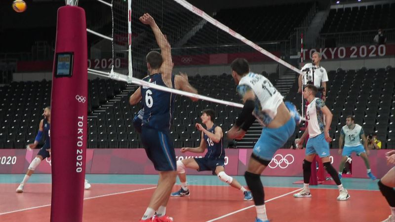 Tokyo 2020 - Argentina vs Italy - Volleyball Men's Quarterfinals - Olympic Highlights