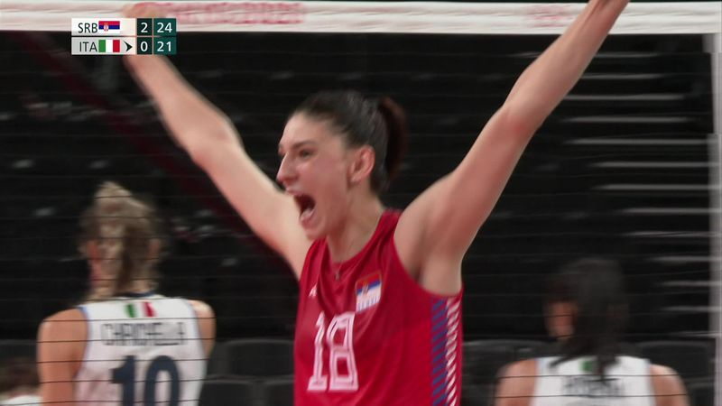 Tokyo 2020 - Serbia vs Italy - Volleyball Women's Quarterfinals - Olympic Highlights