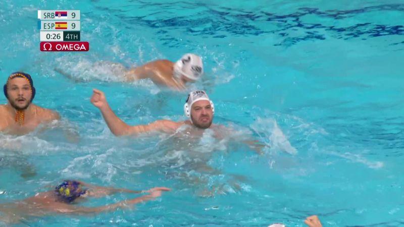 Tokyo 2020 - Serbia mot Spain - Water Polo Men's Semifinal – OL-høydepunkter