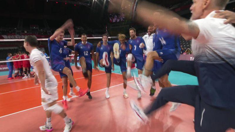 Tokyo 2020 - France mot Russian Olympic Committee - Volleyball – OL-høydepunkter