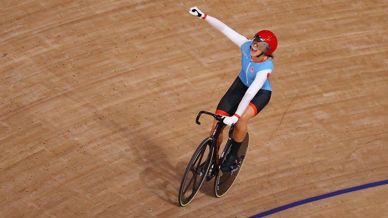 Ciclismo en pista   Kelsey Mitchell vuela hacia el oro en la velocidad femenina