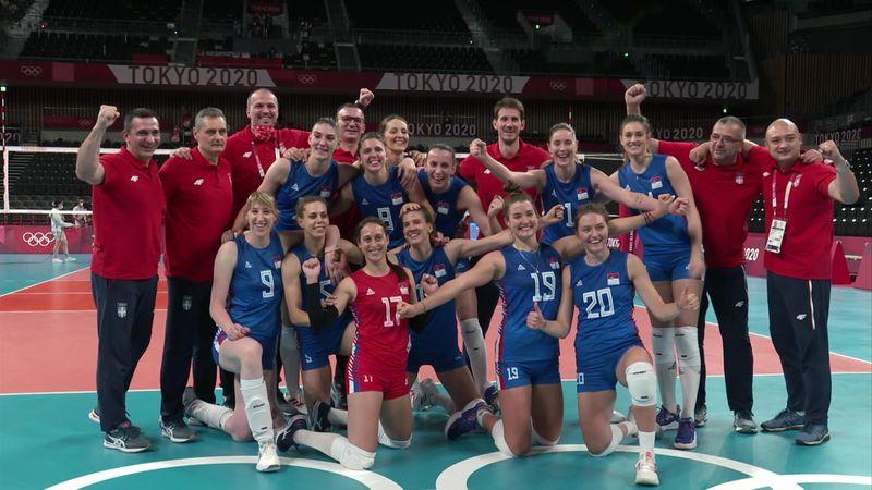 Tokyo 2020 - Serbia mot South Korea - Volleyball – OL-høydepunkter