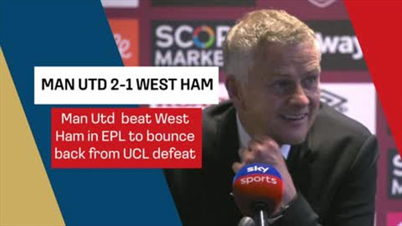 Solsksjaer laughs off 'title favourites' question after win over West Ham