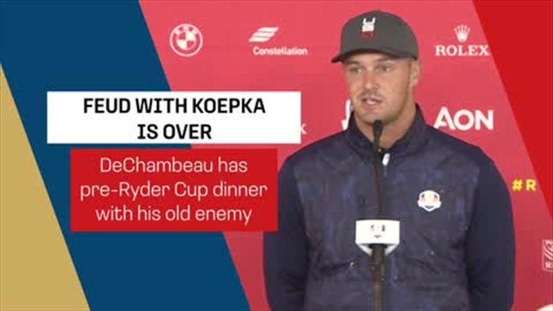 'We had dinner last night, it was fine' - DeChambeau on Koepka feud