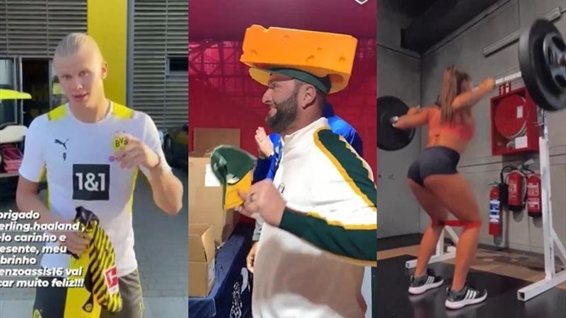 Lo más social: Rahm baila con un queso en la cabeza y el regalo de Haaland a Ronaldinho