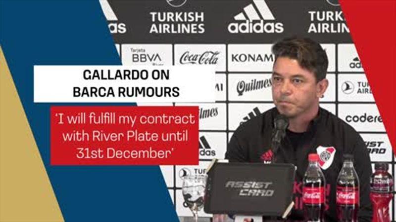 'I will fulfil my River Plate contract' - Gallardo on Barca rumours