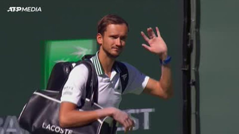 Dimitrov battles back from a set down to stun top seed Medvedev at Indian Wells