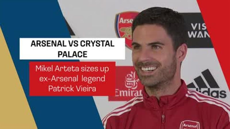 'We will not find another Vieira' - Arteta ahead of Crystal Palace game