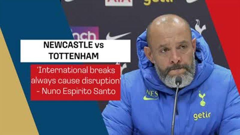 'International breaks always cause disruption' - Nuno ahead of Newcastle trip