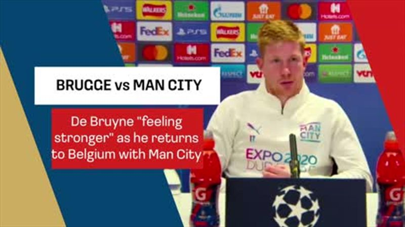 De Bruyne 'feeling stronger' and excited for Belgium return with Man City