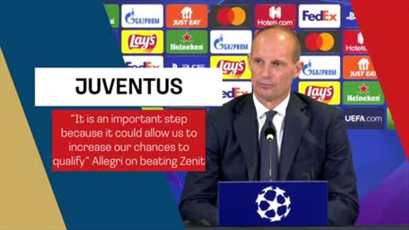 Allegri on 'important step' that could increase Juve's chances to qualify