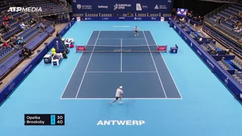Brooksby advances with 6-4 6-4 win over Opelka in Antwerp