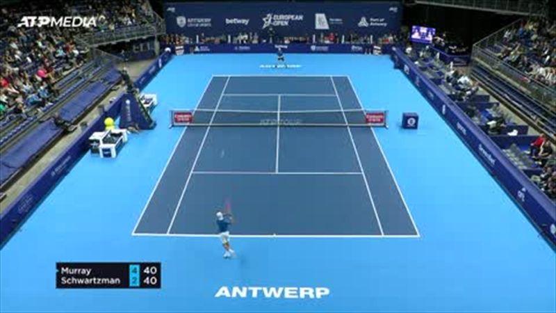 Highlights: Murray falls to Schwartzman in European Open round of 16