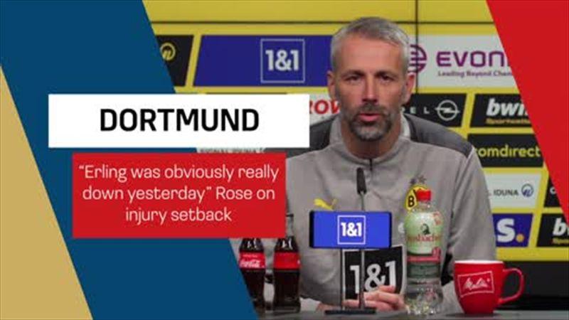 Rose confirms Haaland injury setback