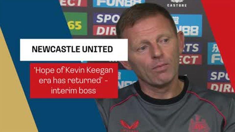 Hope of Kevin Keegan era has returned' - Newcastle interim boss Jones