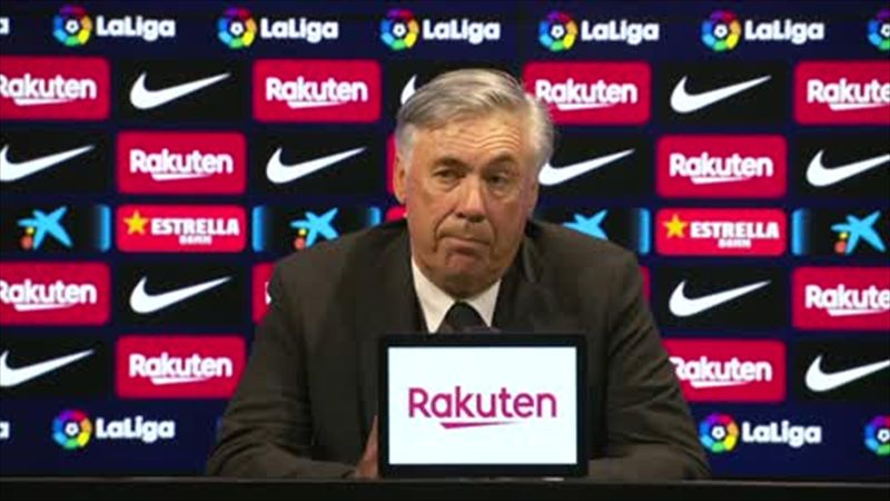Ancelotti 'happy' to win first Clasico at Camp Nou as Real Madrid beat Barcelona