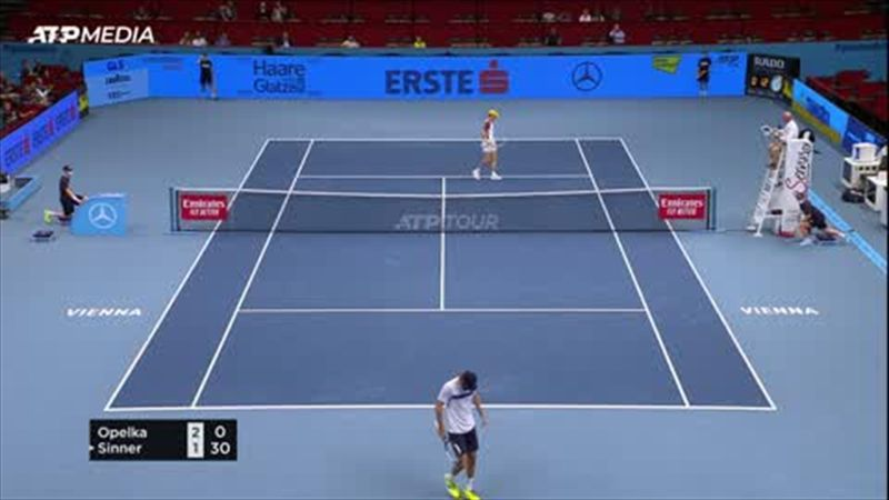 Sinner advances with 6-4 6-2 win over Opelka at the Vienna Open